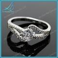ronda brillante corte cz blanco de piedras preciosas joyas de plata