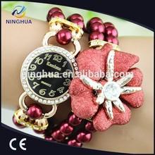 Flower colorful strap luxury women vogue watch