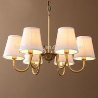 Copper lamp sitting room bedroom restaurant study restoring ancient ways droplight Pendant lamp LED