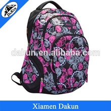 New design backpack with printing flower