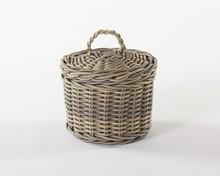Storage Pest Free Waterproof Resin Rattan Basket With Lid