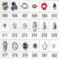 nail art 3d metal decoração de unhas de lábios vermelhos tiaras duplas projeto c