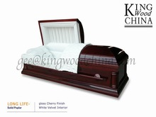 LONG LIFE mdf high polish panel wooden oak casket bed