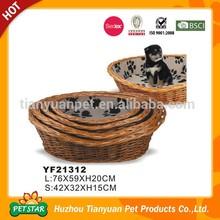 Factory Direct High Qualtiy Round Rattan Dog Bed Basket