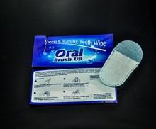 Oral brush up eficaz dental clean uso diario dedo toallitas, Limpiador de dientes