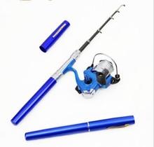Chinese wholesaler ILURE Pocket Pen Fishing Rod Pole + Reel Sea Fishing Rods Tackle Tool