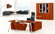 Modern design wood office desk/office table with metal frame D0420