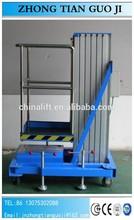 8 m 100 KG unique mât hydraulique aluminium utilisé accueil ascenseurs / manuel personnelle ascenseur