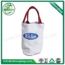 Plain white round cotton canvas tote bag/canvas bag wholesale