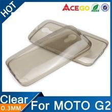 (Acego) 0.3mm Guangzhou transparent soft silicone for moto g2 case cover
