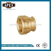 APEX Brass Female Threaded Reducing Straight Socket Coupling