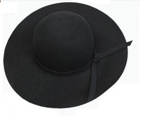 Floppy women's wool felt hats with wide brim