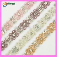 Wholesale color bridal rhinestone sash China supplier wedding headband rhinestone for bridal dress