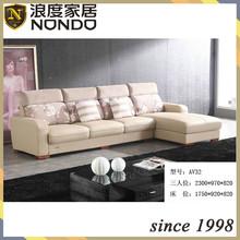 Three seater sofa leather sofa AV32 with chaise longue