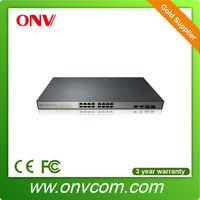 15.4W 16 port network powered 10/100M Ethernet switch