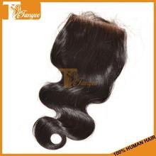 Wholesale Alibabas Grade 5A Mongolian Body Wave Lace Top Closure 4*4 Full Density Unprocessed Virgin Human Hair