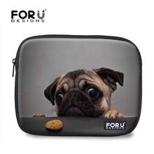 Cut dog 10.1 inch laptop sleeve with back pocket