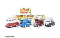 Diecast bus metal toy bus