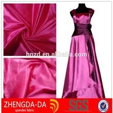 wedding decoration satin fabric/nylon taffeta stocklot fabric/woven nylon fabric strap