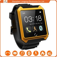 2015 Waterproof/shockproof/dustproof bluetooth watch phone for Samsung Glax and for iphone 6