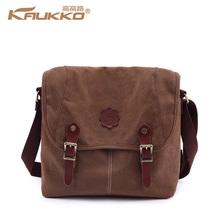 100% Canvas Messenger Bag Cross Body Bag Single Shoulder Bag for Men & Women 3 Colors