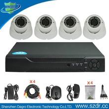 4CH D1 CCTV DVR Cheap Home Surveillance Security System,4 Pcs Outdoor Indoor Cctv Camera kit