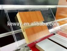 Plastic slatwall shelf