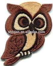 Owl bird of prey hoot animal wildlife applique iron-on patch