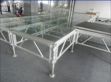 Aluminium frame glass platform stage for profermance