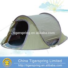 outdoor leisure Polyester fiberglass pole 2 second tent