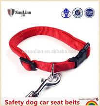 toptan güvenlik köpek tasma yaka kırmızı köpek araba emniyet kemerleri