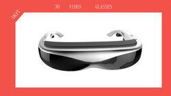practical Portable Video Glasses 98 Inch Virtual Screen, 4GB, AV function