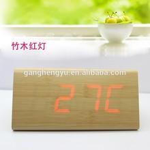 Charging Triangular LED Wood Clock