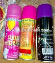 Party string/color string/snow spray tin cans