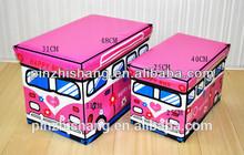 2015 the nwe car shape foldable storage stool/toy storage box