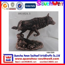 Resin Figurine Sculpture Wolf For Home Decoration