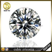 Loose gemstones wholesales round brilliant cut white zircone