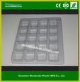 clear plástico pet embalagem blister bandeja de sobremesa de guangdong fabricante