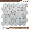 hexágono de carrara mosaico de mármol azulejos para el diseño de viviendas