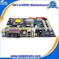1 ano de garantia 3* 3gb/s sata conector da placa-mãe g41 775 ddr3