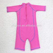 solid color nylon girls one piece swimwear children summer beachwear