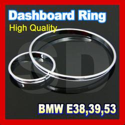 Chrome Cluster Gauge Dashboard Ring for BMW E38 E39 E53