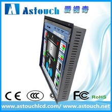 lcd supplier 15 inch 4 or 5 wire resistive touch screen monitor with SAW touch