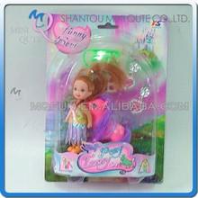 Mini Qute 10 cm beautiful American Latex kid girls fashion Plastic doll decoration with small horse educational toy NO.YS0706-4
