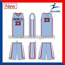 2015 new design tackle twill basketball uniform embroidery basketball uniform 220gsm
