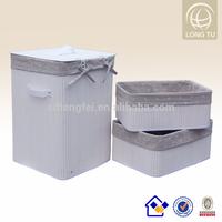 Cosy Flower Flax lining Folding Bamboo laundry basket / modern house design