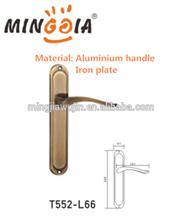 iron plate aluminium alloy room door handle