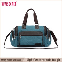 vivisecre Promotional Custom Foldable Travel Bag, waterproof travel bag, canvas travel shoulder bag for men