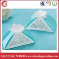 tiffany blu floreale piramide da sposa da sposa partito bomboniere favore scatole