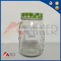 500ml food grade glass jar with screw cap